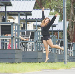 Dancing in the Air Trapeze Beach Camp Accommodation