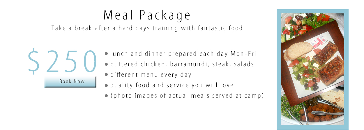 Trapeze Beach Camp Meal Package